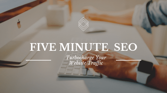 The cover image for Five Minute SEO, a course on Shopify and website SEO